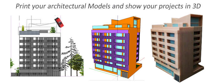 3D model from your 2D plans and architectural design and drawings