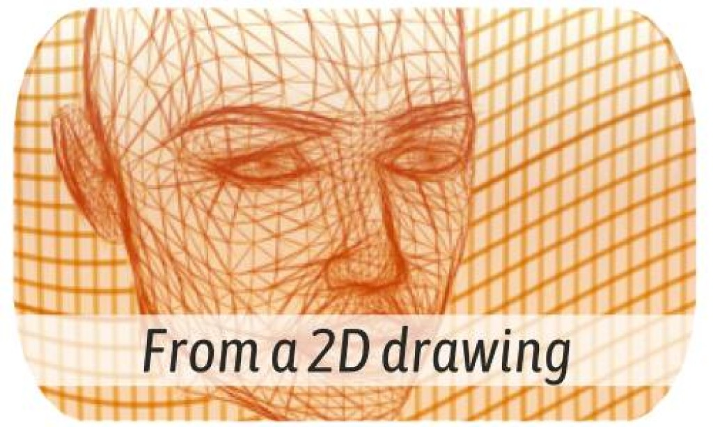 3D modeling from 2D drawing or image