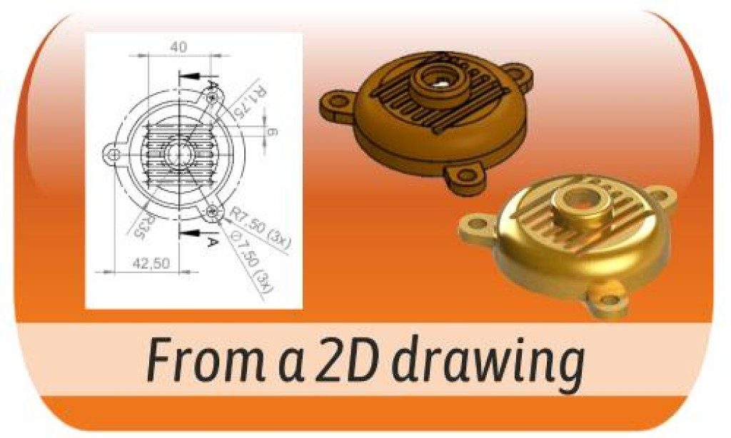 Modeling from a 2D file or drawing