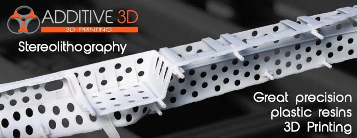 High definition 3D printing of Resins by Stereolitography - SLA. Accuracy and choice of materials at advantageous prices. Durable transparent plastic or white simulating polypropylene, polycarbonate, ABS. Precise model for silicone moulding.