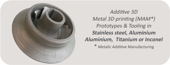 Metal 3D printing - additive manufacturinf Stainless steel, Iconel, Aluminium, Titanium - Print a prototype or a tool in 3D metal