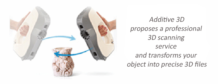 3D professional scanner of objects and people - transportable